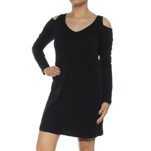 Anthro Sanctuary cold shoulder long sleeve dress
